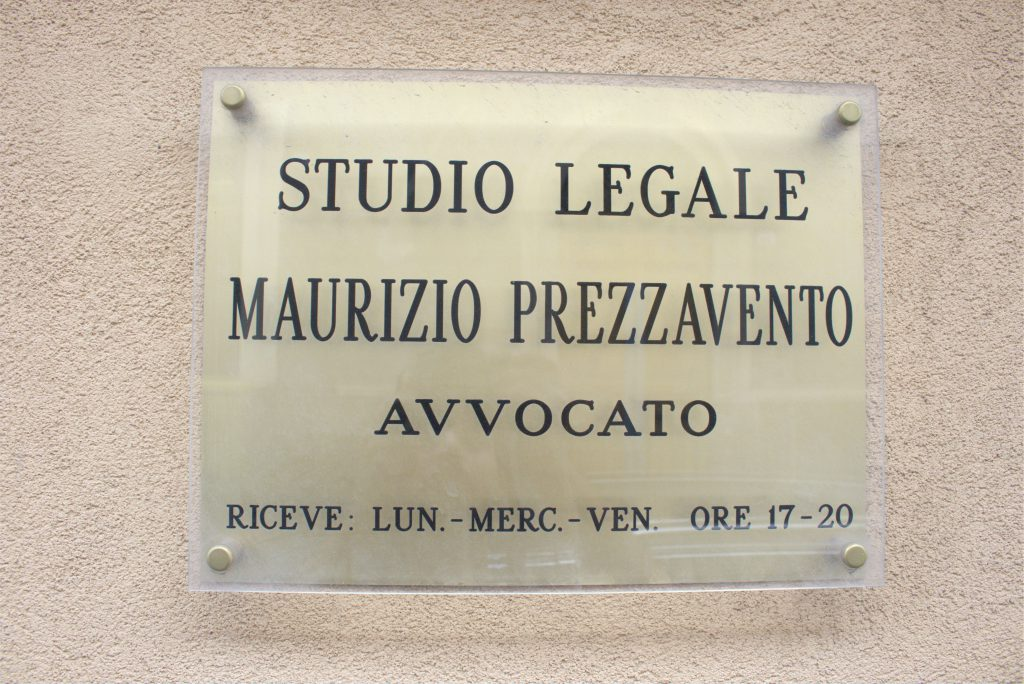 TARGA STUDIO LEGALE PREZZAVENTO